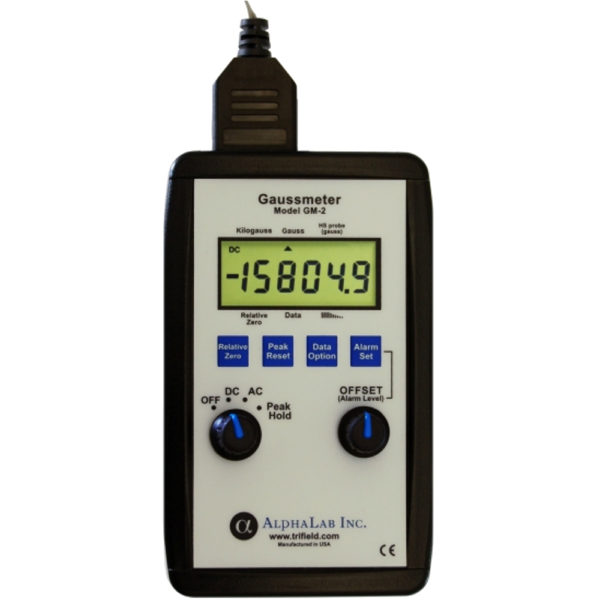 Image of the gaussmeter model GM2 from AlphaLab, Inc.