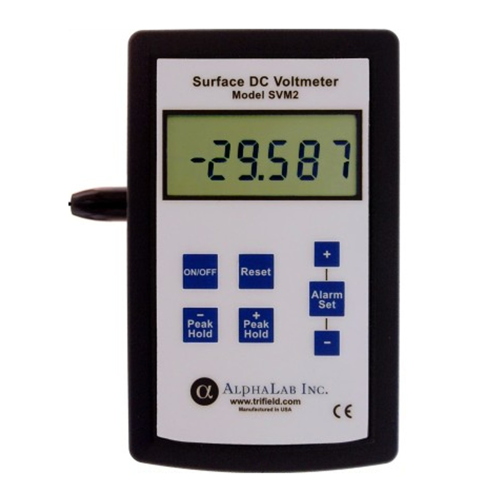 Surface Dc Voltmeter Svm2 Alphalab Inc Static Electricity Negative Ion Detector